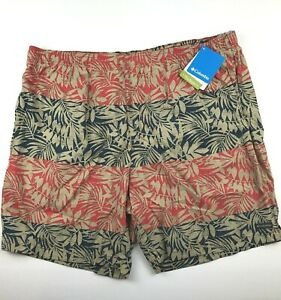 "Columbia Mens Big 2X 8"" Ins Red Blue Big Dipper Board Shorts Swim Trunks NWT $60"
