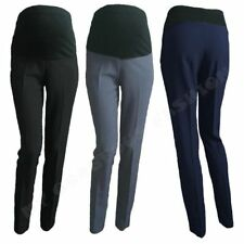 Elegant Maternity Trousers Skinny Office Work Pants Over Bump 8 10 12 14 16 18