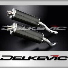 "Kawasaki Z1000 ZR1000 14"" Carbon Fiber Oval Muffler Exhaust Slip On 03 04 05 06"