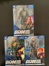 GI Joe Classified Series 3 Figure Lot. Duke, Roadblock & Scarlett Wave 1