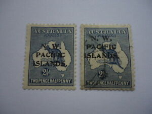 New Guinea KGV 1915-16 SG74 2 1/2d Indigo Die II W2 MNH & Used