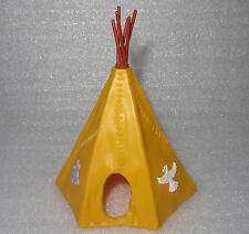 TIMPO TOYS Indianer Zelt TIPI GELB mit BLAUER  SCHILDKRÖTE  Variante
