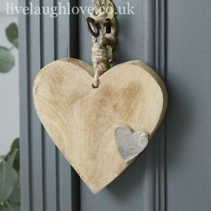 Chunky Wooden Hanging Heart