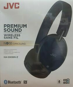JVC HA-S90BN-Z  Black Wireless Bluetooth Noise Canceling Over Ear Headphones