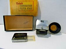 Vintage Kodak Series V Lens Hood Ihagee Waist Level View Finder & Leica Meter MC