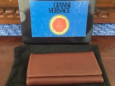 Gianni Versace Brown Leather Key Holder, New