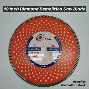 "12"" (300mm) Premium diamond Demo saw Blade Concrete Brick Pave Stone Metal"