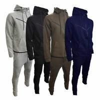 New Mens V Shaped Design Tracksuit Slim Fit Joggers Pants Bottoms Top Zip Hoodie