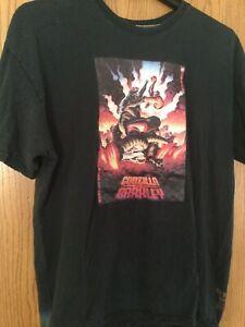 Godzilla Vs. Barkley  Circa '92 Black Shirt.  Nike.  XL.