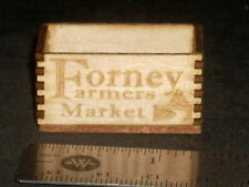 Dollhouse Miniature Forney Farmers Market Crate 1:12 Farm Food Store Produce