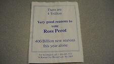 Perot for President Pamphlet- 1992?