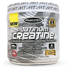 MUSCLETECH PLATINUM CREATINE - ULTRA PURE MICRONIZED CREATINE - 400g 80 SERVINGS