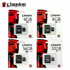 Kingston Micro SD 4GB 8GB 16GB SDHC Memory Card Microsd TF Class 4 & Adapter