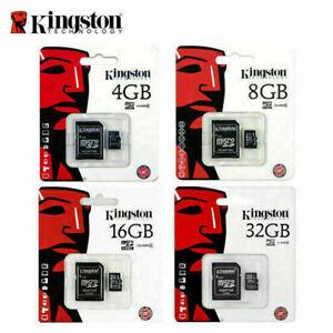 Kingston Micro SD 4GB 8GB 16GB SDHC Memory Card Microsd TF Class 4 & Adapter