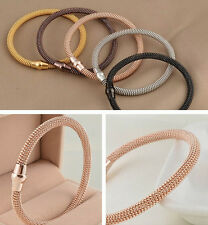 women gifts Stainless steel spring line Chain Bracelets With magnet clasp Bangle