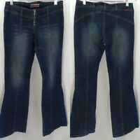 Vintage Z Cavarici Womens Flare Jeans - Size 7 - 90's Hippy Boho Bell Bottoms
