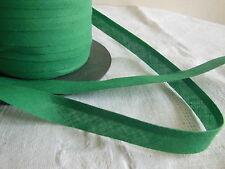 biais vintage ruban bordure vert 5 mètres sur 1,5  cm