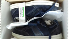 GEOX halbhohe Schuhe Leder blau Gr. 37
