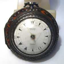 Antique Edward Prior London Silver Pocket Watch for Parts or Repair