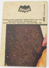 RARE # 17 Robin 1966 Batman Gum Card A&BC Black Cowl Europe Dutch Belgium Issue