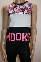 MOOKS Brand Black Grey Pink Sleeveless Tank Top Size 12 LIKE NEW #AN02