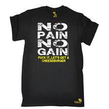 Gym Bodybuilding T-Shirt Drôle Nouveauté Homme tee tshirt-Burger No Pain No Gain