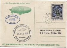 Werbekarte UNDERBERG Luftschiff D-LAVO Österreich-Fahrt 1958