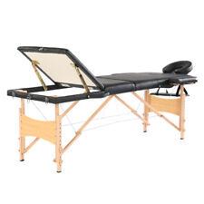"84"" 3 Sections Folding Portable Beech Leg Beauty Massage Table 60CM Wide"