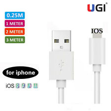 UGI 0.25-3M USB Data Sync IOS Charger Cable Cord For iPhone 5 5S 6 7 8 X XS iPad
