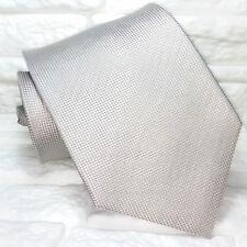 Solid Gray necktie Made in Italy tie silk Morgana brand weddings / business tie