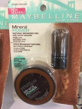 LOT OF 3 X Maybelline Mineral Power Natural Bronzing Veil, SUNSET BRONZE Bronzer