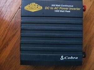 Cobra Power Inverter 500 watts Continuous/1000 watts peak