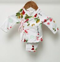 Baby girl Designer 2 Piece Kimono Set. Soft Cool Cotton. Size 3 Months