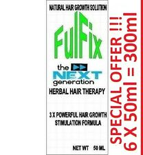 6 X 50ml 300ml FulFix Hair Loss Herbal Therapy NEXT GENERATION FORMULA & BIOTIN.