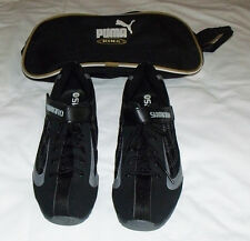 Shimano Black Bike Shoes SH-FN20 with cleats Mens Indoor/Spinning. Carry case.