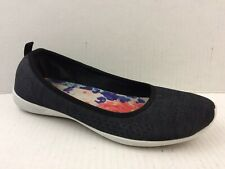 c32c1786a707 SKECHERS Womens 7 Med Black White Memory Foam Casual Shoes Athletic Ballet  Flats