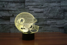 3D NFL Washington Redskin helet acrylic 7 color led table night lights lamp gift
