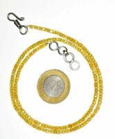 """Yellow Zircon Gemstone 3 mm Rondelle Faceted Beads 12-45"""" Beads Necklace JH5552"""