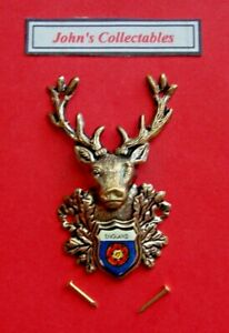 COLLECTABLE ENGLAND STAGS HEAD WALKING / HIKING STICK BADGE  / MOUNT M1