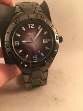 Relic by Fossil Mens Black Date Dial Gunmetal Finish Quartz Watch ZR11811-HM