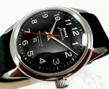 HMT JANATA BIG NUMBERS 17j. Hand winding vintage watch~ BLACK DIAL-