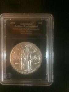 2004-$1 Lewis and Clark Bicentennial Silver Dollar Brilliant Uncirculated