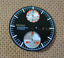 = Black / Silver sub dials Chronograph DIAL (ufo) New made for SEIKO 6138