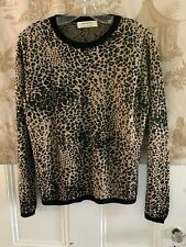 ALDOMARTINS BARCELONA LEOPARD ANIMAL PRINT PULLOVER SWEATER TOP SIZE 8