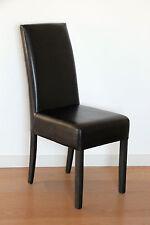 Markenlose Stühle aus Kunstleder fürs Esszimmer