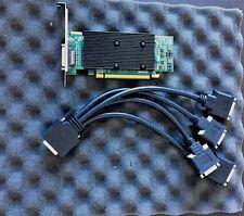 Matrox M9140 M9140E512LAF KX20  PCI-e x16 Video Graphics Card 4 monitors support