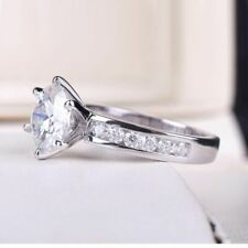 Diamond Ring Wedding Gift For Women Top Quality Round Cut Engagement Moissanite