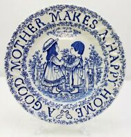"Royal Crownford A Good Mother Makes A Happy Home 9"" Blue Plate Norma Sherman"