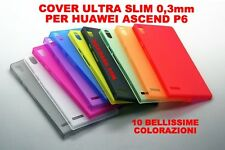 COVER PER HUAWEI ASCEND P6 ULTRA SLIM 0.3MM CUSTODIA PROTEZIONE THIN FROSTED