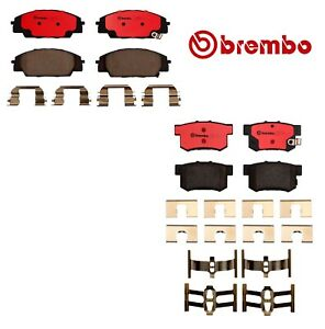 For Acura RSX Honda Civic S2000 Front and Rear Ceramic Brake Pads Set Kit Brembo